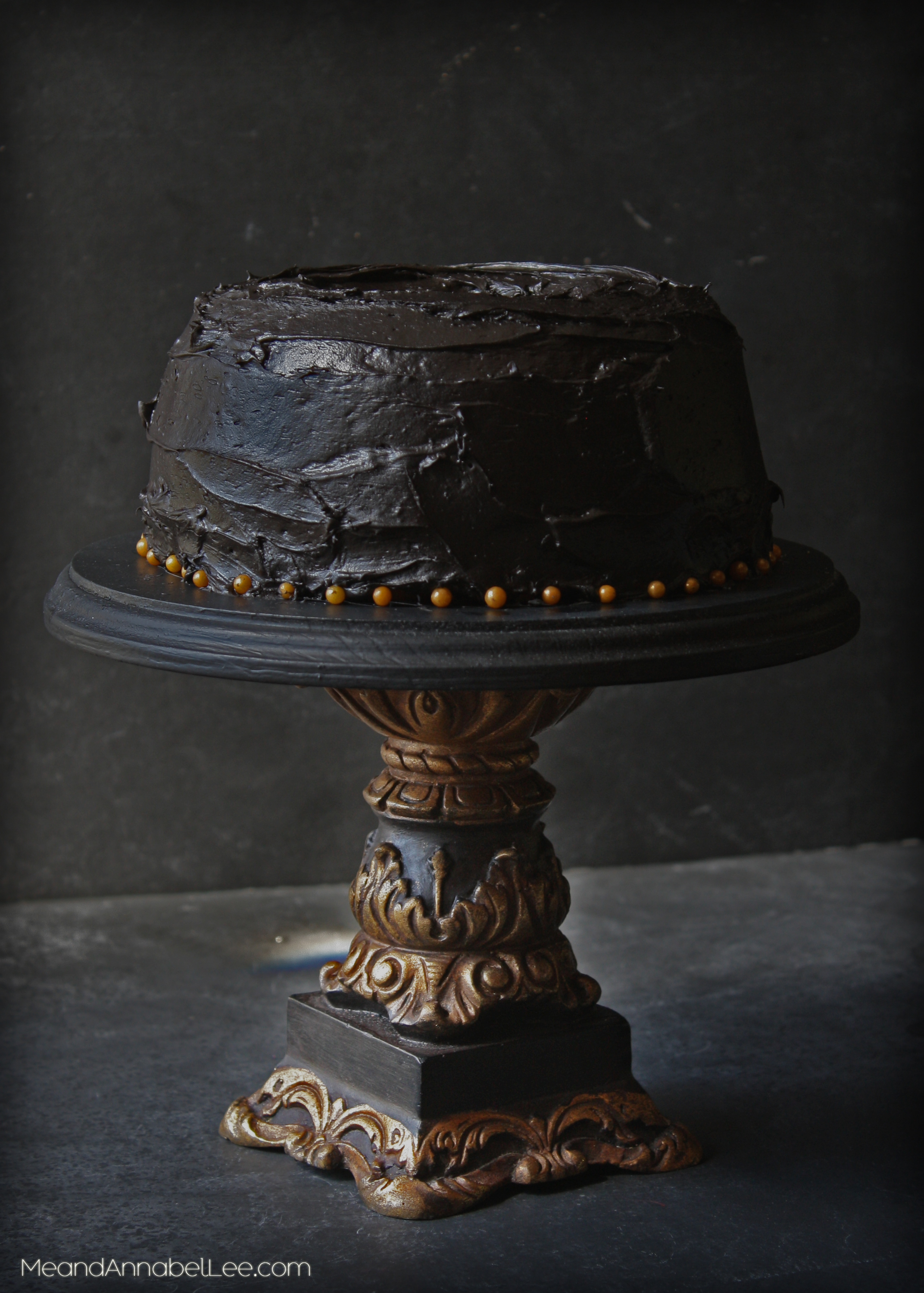 black and gold wedding cake stand diy black gold cake stand me and annabel 11813