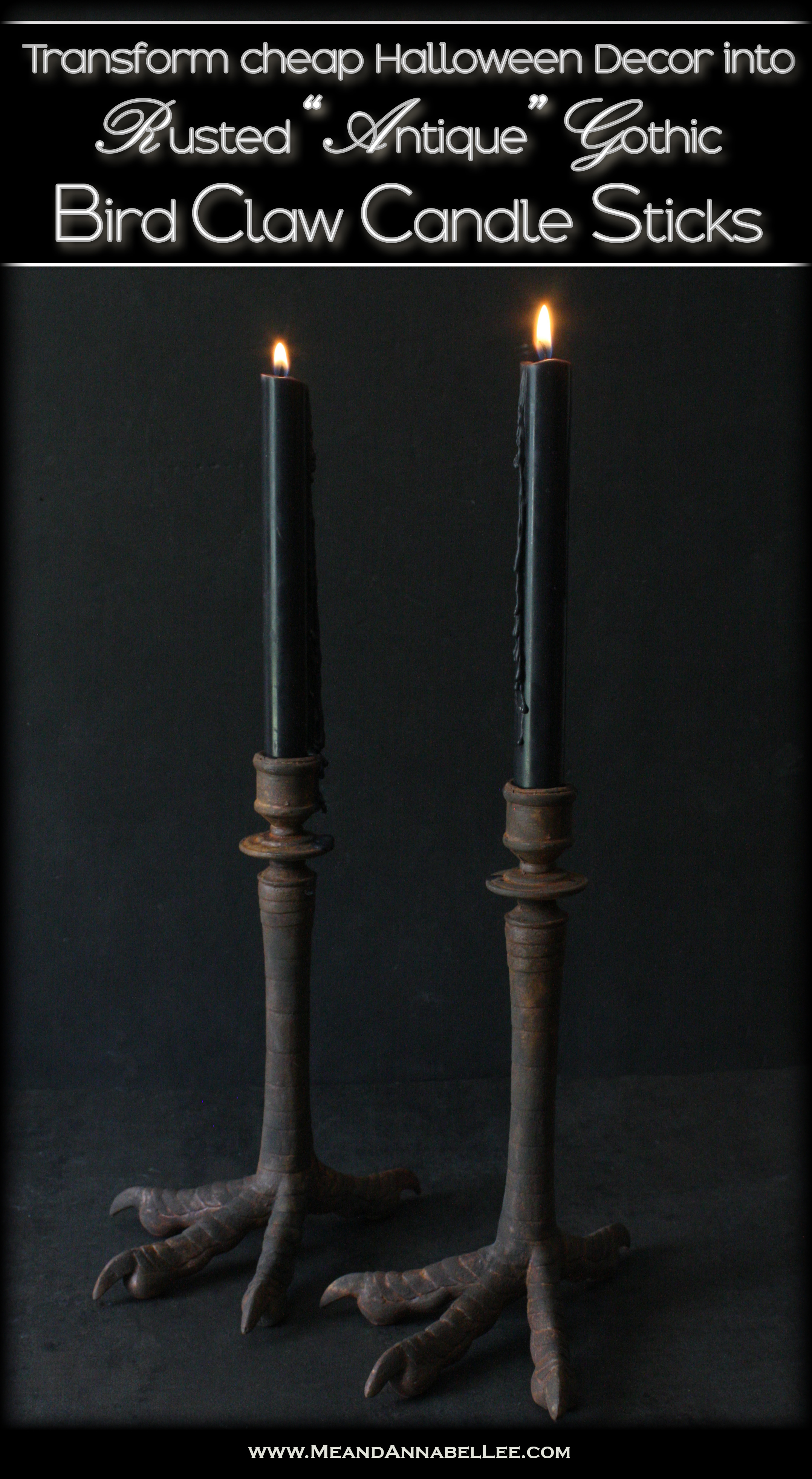 Gothic Antique Bird Claw Candle Holders How To Upcycle Halloween Decor Me And Annabel Lee